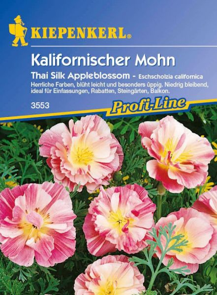 Kiepenkerl Kalifornischer Mohn Thai Silk Appleblossom - Eschscholzia californica
