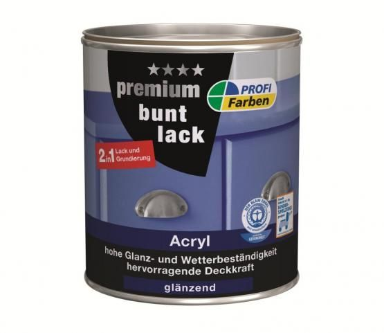 PROFI Acryl Premium Buntlack, glänzend, 125 ml, Reinweiss, RAL 9010