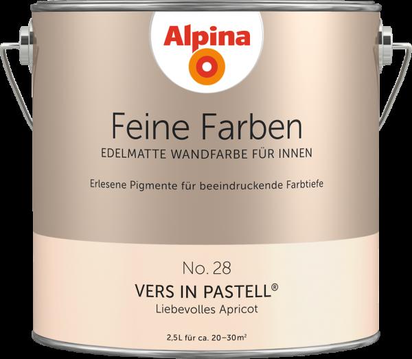 "Alpina Feine Farben No. 28 ""VERS IN PASTELL"" - Liebevolles Apricot"
