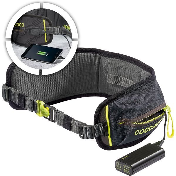 Coocazoo Hüftgurt TecCheck mit Power Pack, Black
