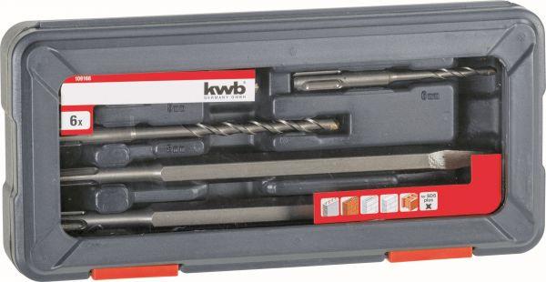 kwb Hammer- und Meißelbohrersatz, 6-tlg.