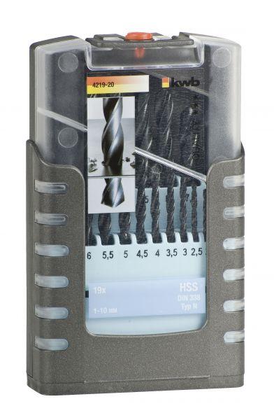 kwb HSS BOHRER 1-10 mm COMPACT-BOX, 19 tlg