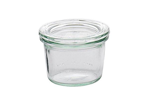 WECK Rundrandglas Mini-Sturz 80 ml mit Deckel 60 mm
