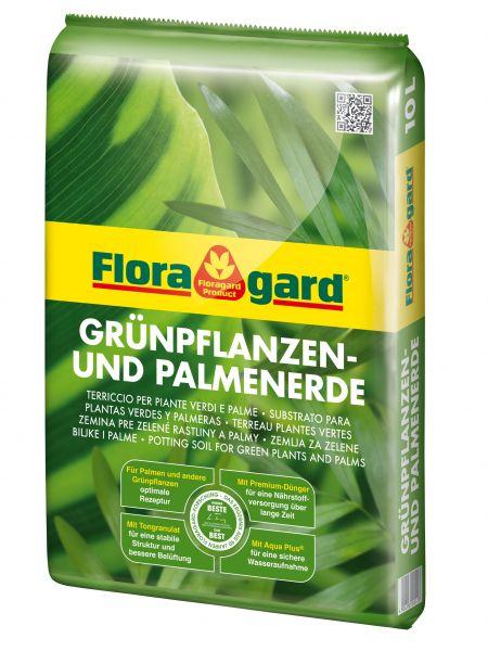 Floragard Grünpflanzen- und Palmenerde, 10 L