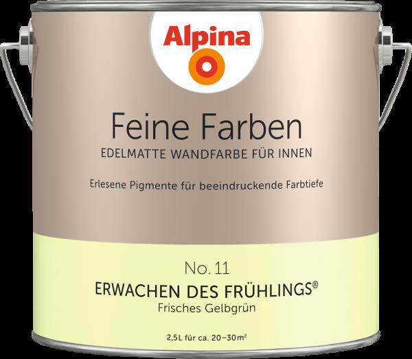 """Alpina Feine Farben No. 11 """"ERWACHEN DES FRÜHLINGS"""" - Frisches Gelbgrün"""