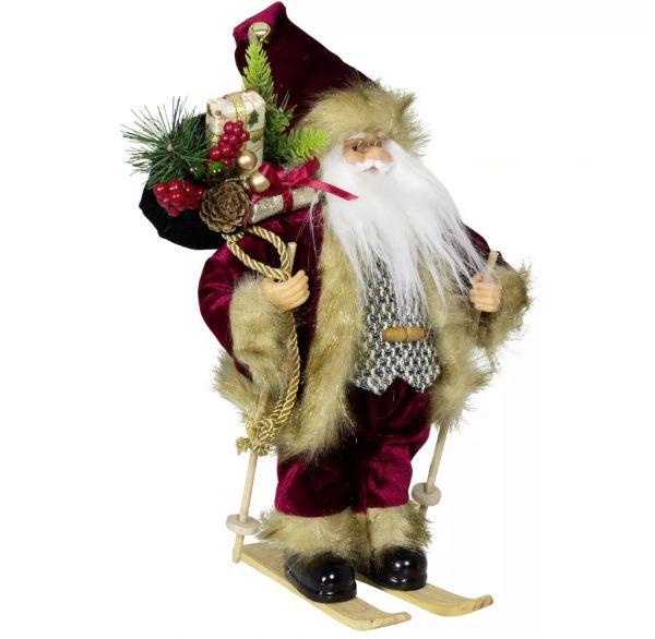 """Weihnachtsmann """"Aaron"""" auf Ski, 30 cm"""