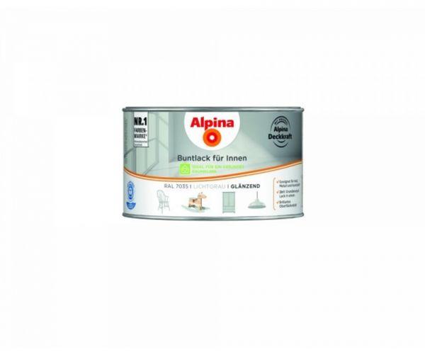 Alpina Buntlack für Innen glänzend Lichtgrau