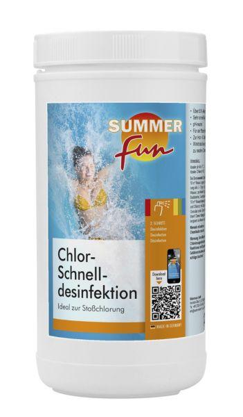 Watermann Summer Fun Chlor-Schnelldesinfektion - Ideal zur Stoßchlorung