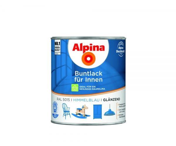 Alpina Buntlack für Innen glänzend Himmelblau