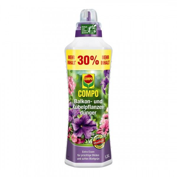 COMPO Balkon- und Kübelpflanzendünger 1,3 L