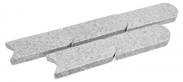Granit-Rasenmähkante