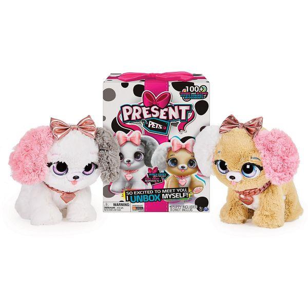 Spinmaster Present Pets-Interaktiver Plüschhund Fancy