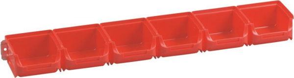 Allit ProfiPlus Sichtboxen-Set 1/6, rot, 6-tlg., 613x100x60 mm