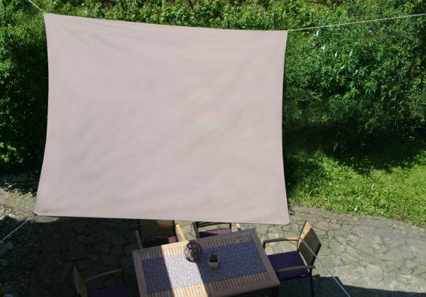 Sonnensegel, quadratisch, 360x360, taupe