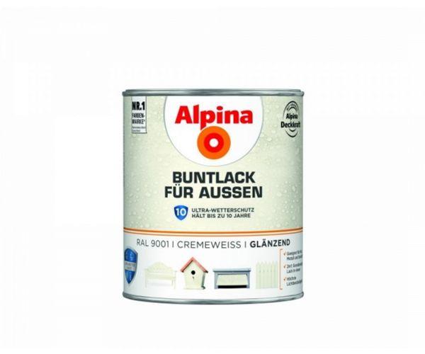 Alpina Buntlack für Außen glänzend Cremeweiß