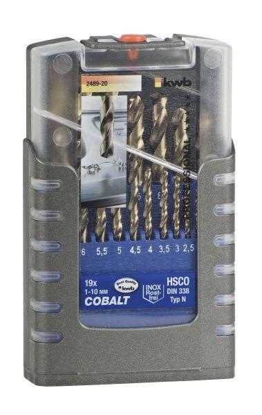 kwb HSS COBALTBOHRER 1-10 mm COMPAKT-BOX, 19tlg.