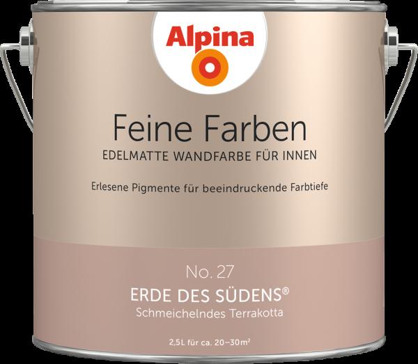 """Alpina Feine Farben No. 27 """"ERDE DES SÜDENS"""" - Schmeichelndes Terrakotta"""