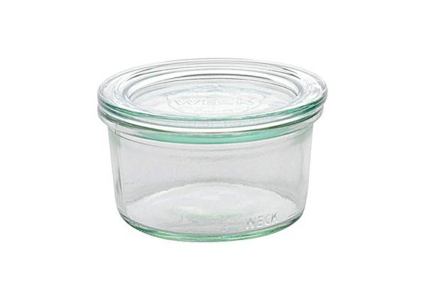 WECK Rundrandglas Mini-Sturz 165 ml mit Deckel 80 mm