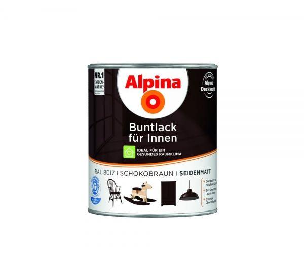 Alpina Buntlack für Innen seidenmatt Schokobraun