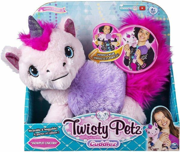 "Spinmaster Twisty Pets ""Snowpuff Unicorn"" Plüsch"