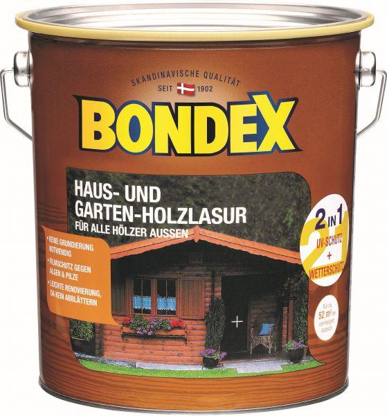 """BONDEX Haus- und Garten Holzlasur für alle Hölzer Außen """"Rio Palisander"""", 4 L"""