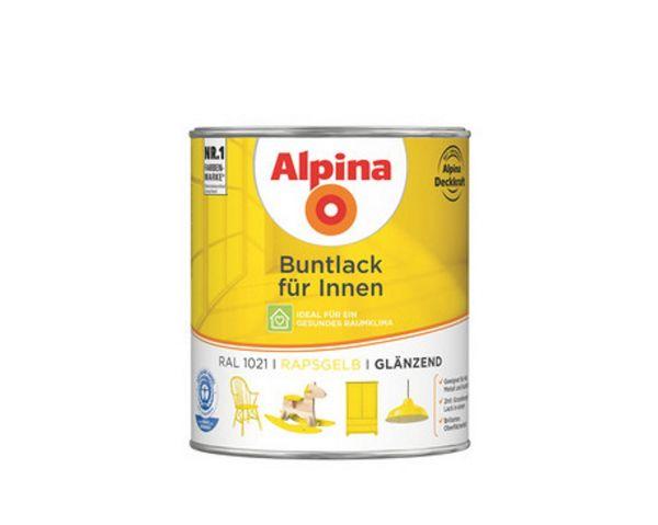 Alpina Buntlack für Innen glänzend Rapsgelb