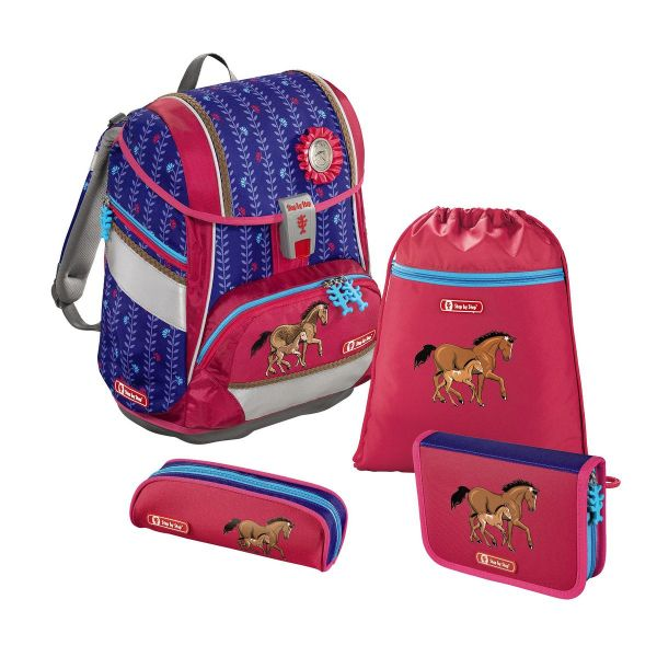 """Schulranzen-Set Step by Step 2in1 """"Lucky Horses"""", 4-teili"""