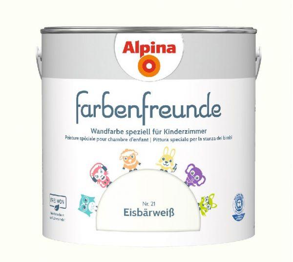 Alpina Farbenfreunde Nr. 21 Eisbärweiß, 2,5 L