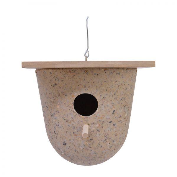 Kaffeeschalen Vogelhaus rund sand