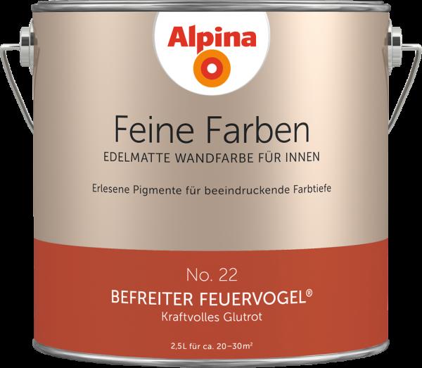 """Alpina Feine Farben No. 22 """"BEFREITER FEUERVOGEL"""" - Kraftvolles Glutrot"""