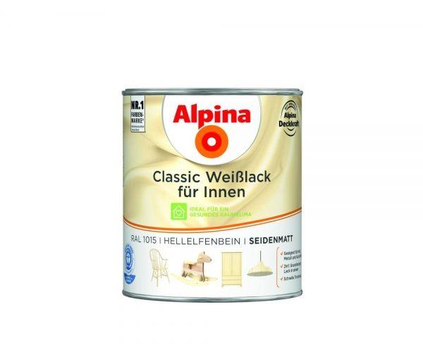 Alpina Classic Weißlack für Innen seidenmatt Hellelfenbein