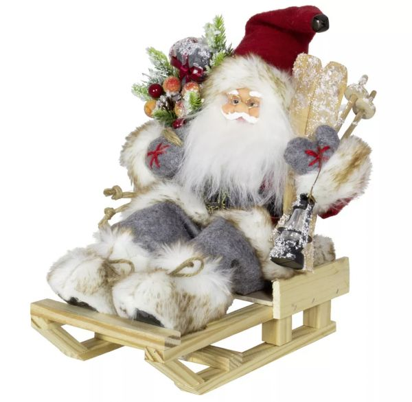 """Weihnachtsmann """"Laurin"""" auf Schlitten, 30 cm"""