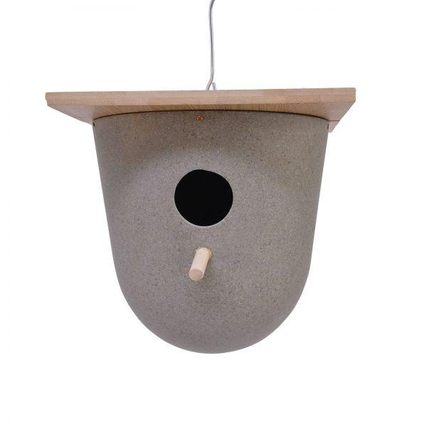Kaffeeschalen Vogelhaus rund grau