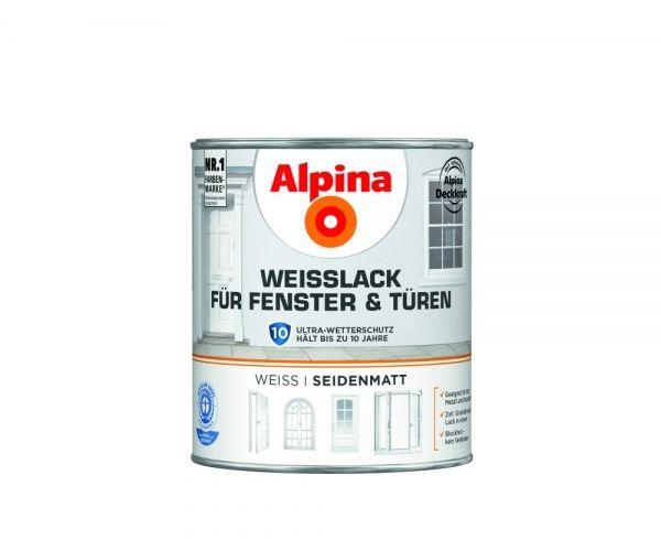 Alpina Weißlack für Fenster & Türen seidenmatt