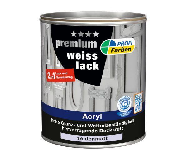PROFI Acryl Premium Weisslack seidenmatt