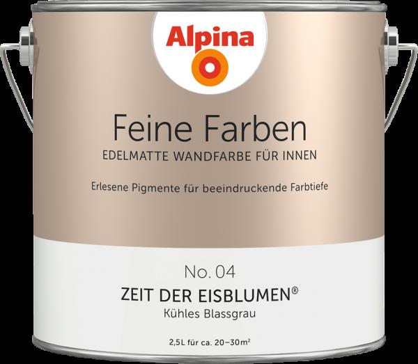 """Alpina Feine Farben No. 04 """"ZEIT DER EISBLUMEN"""" - Kühles Blassgrau"""