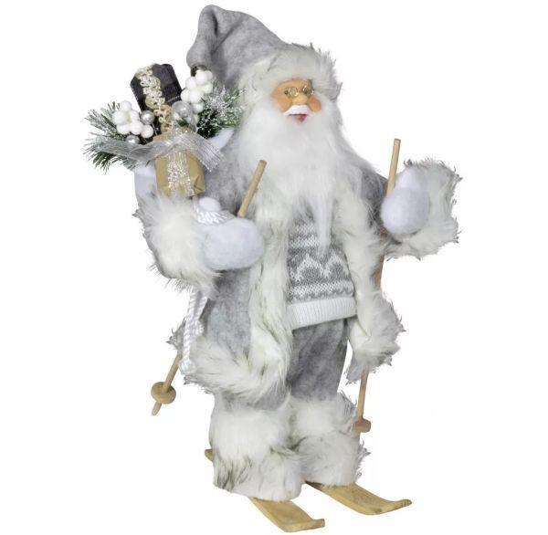 """Weihnachtsmann """"Willi"""" auf Ski, 30 cm"""