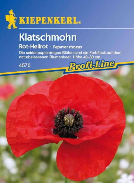 Kiepenkerl Klatschmohn Rot-Hellrot - Papaver rhoeas