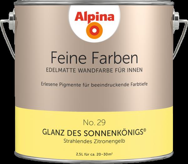"""Alpina Feine Farben No. 29 """"GLANZ DES SONNENKÖNIGS"""" - Strahlendes Zitronengelb"""