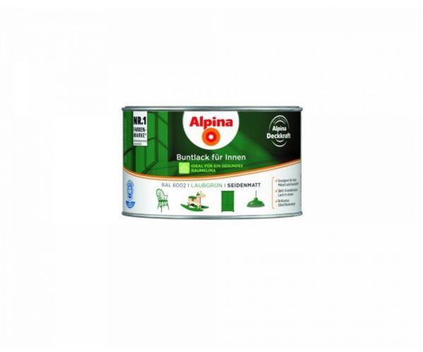 Alpina Buntlack für Innen seidenmatt Laubgrün