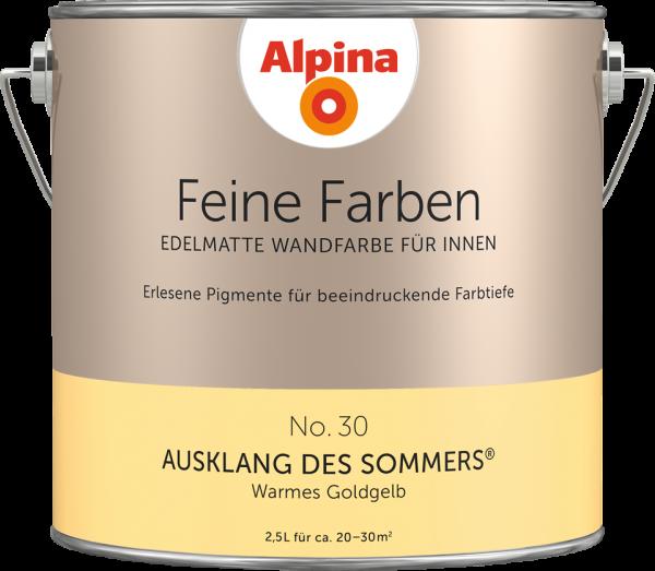 "Alpina Feine Farben No. 30 ""AUSKLANG DES SOMMERS"" - Warmes Goldgelb"