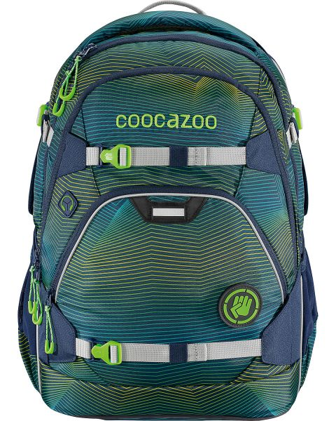 Coocazoo Schulrucksack Scale Rale Soniclights Green