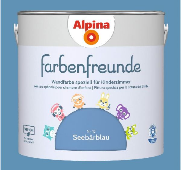 Alpina Farbenfreunde Nr. 12 Seebärblau, 2,5 L