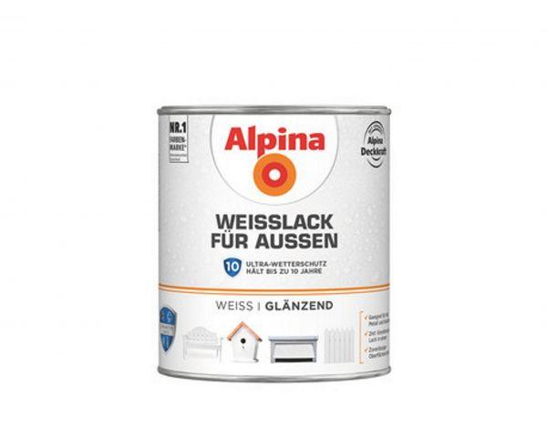 Alpina Weißlack für Außen seidenmatt
