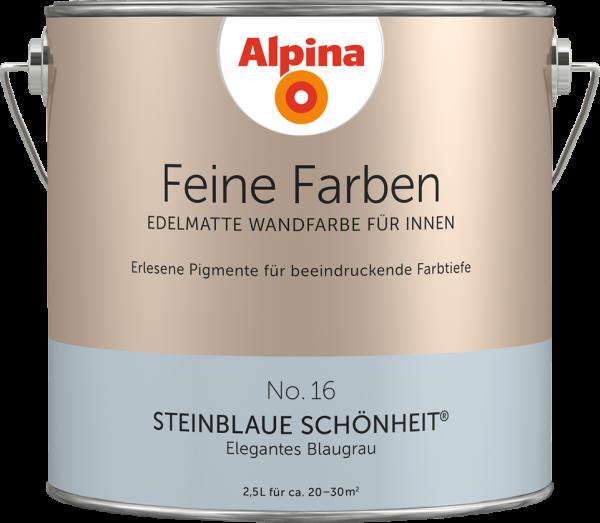 "Alpina Feine Farben No. 16 ""STEINBLAUE SCHÖNHEIT"" - Elegantes Blaugrau"