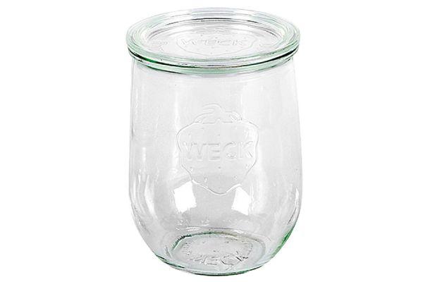 WECK Rundrandglas Tulpe 1 l mit Deckel