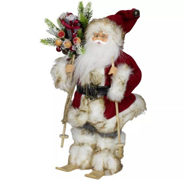 """Weihnachtsmann """"Laurin"""" auf Ski, 30 cm"""