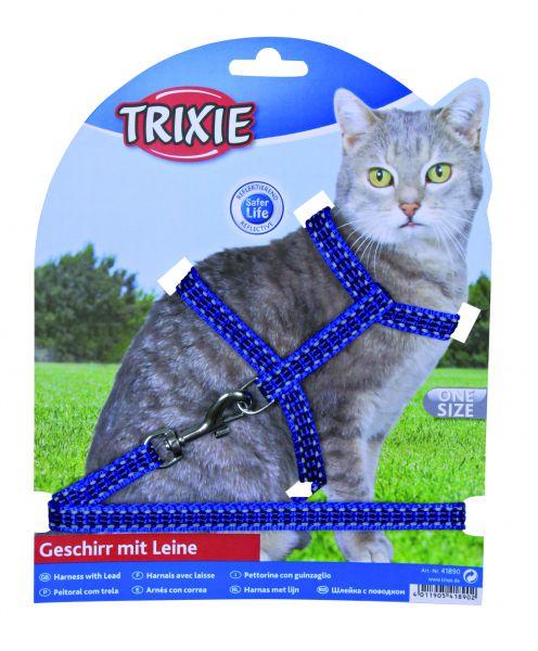 Trixie Katzengeschirr mit Leine, L 1,20 m