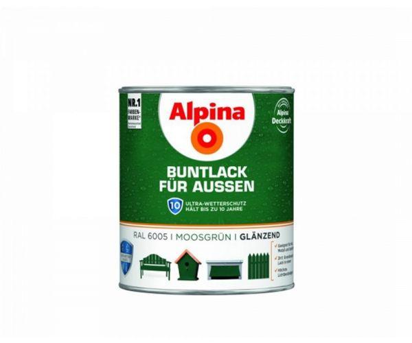 Alpina Buntlack für Außen glänzend Moosgrün