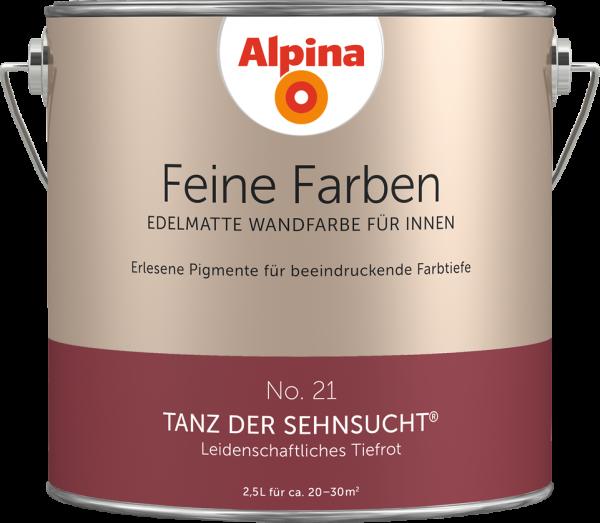 """Alpina Feine Farben No. 21 """"TANZ DER SEHNSUCHT"""" - Leidenschaftliches Tiefrot"""